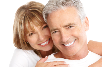 A picture of Dentures York PA patients wearing dentures
